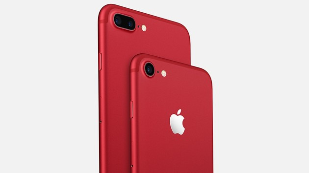 Apple: iPhone 7 Product Red in Red, iPhone SE with 128 GB
