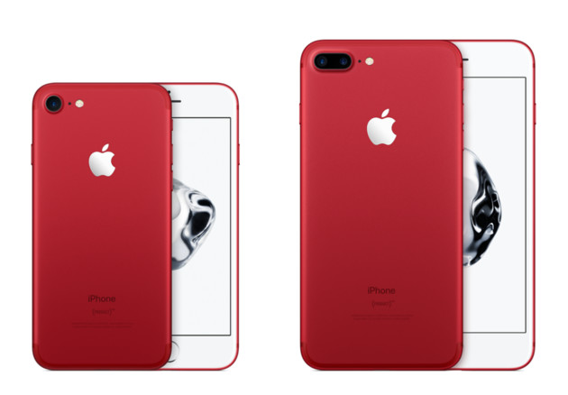 IPhone 7 and iPhone 7 Plus Product Red in Red