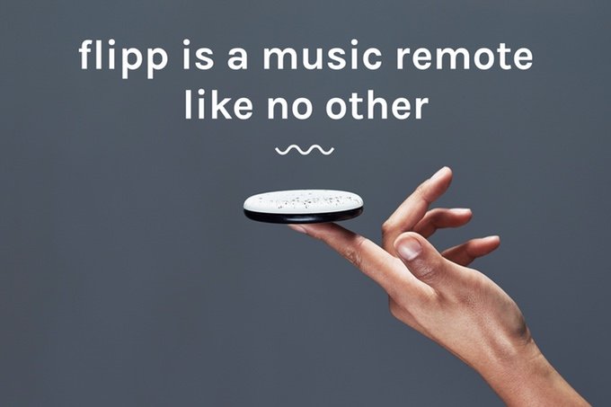 Flipp is a new wireless remote for your speakers that point to design
