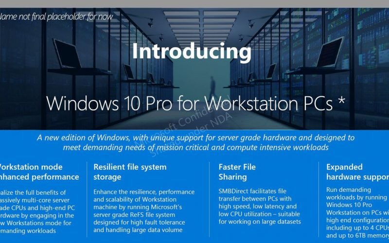 Windows 10: there's the Pro Workstation PC Edition