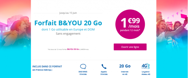 Good Plan: The B & amp; 20 GB package is at 1.99 euro per month for one week