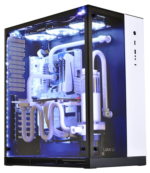 Another option colors PC-O11 - black, with a white front inset
