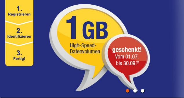 AldiTalk gives away 1GB as a welcome bonus