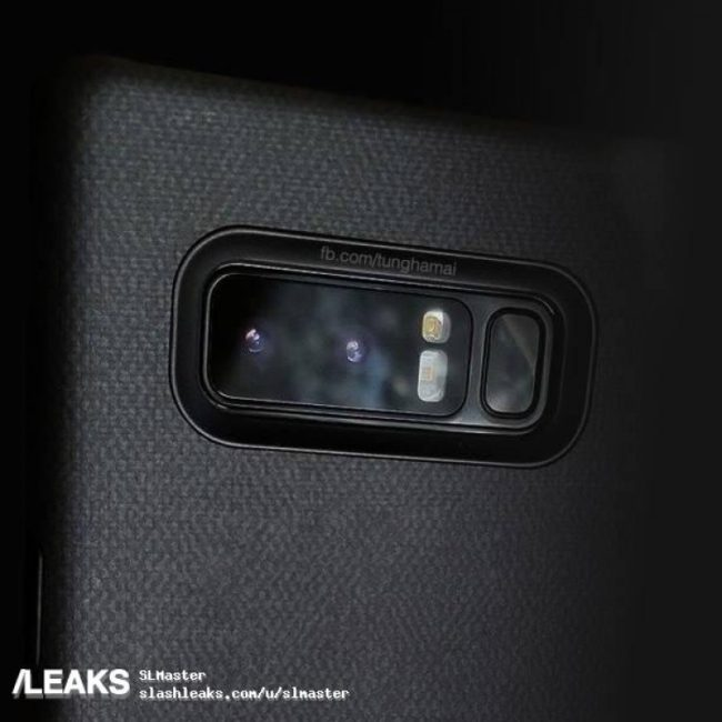 Galaxy Note 8 dual camera Slashleaks