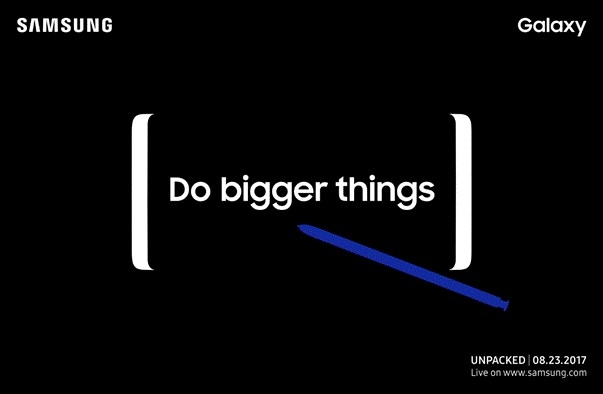Program Note: At 5 pm Samsung introduces the Galaxy Note 8