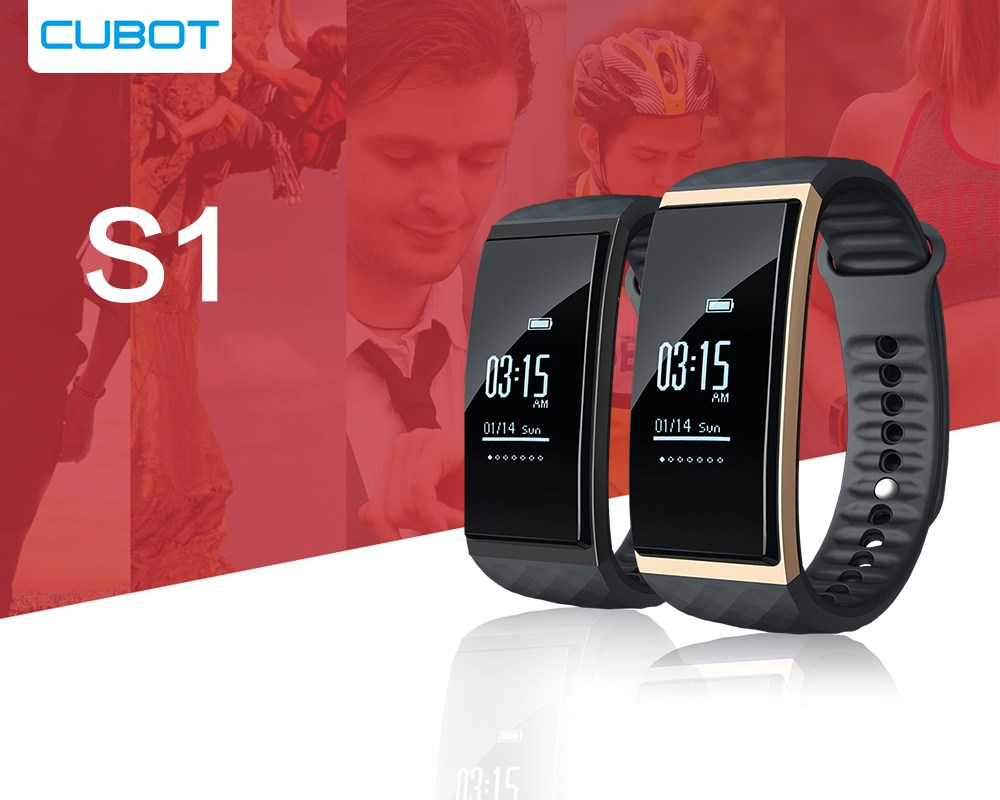 Cubot S1 - Configuration six-axis sensor, step precision, support 24-hour dynamic heart rate monitoring