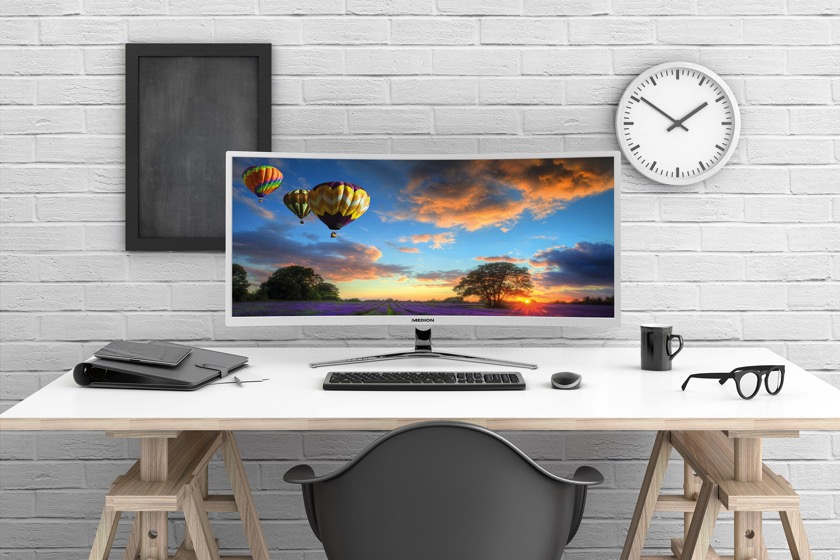 "New curved 34 ""monitor from Medion is now available"