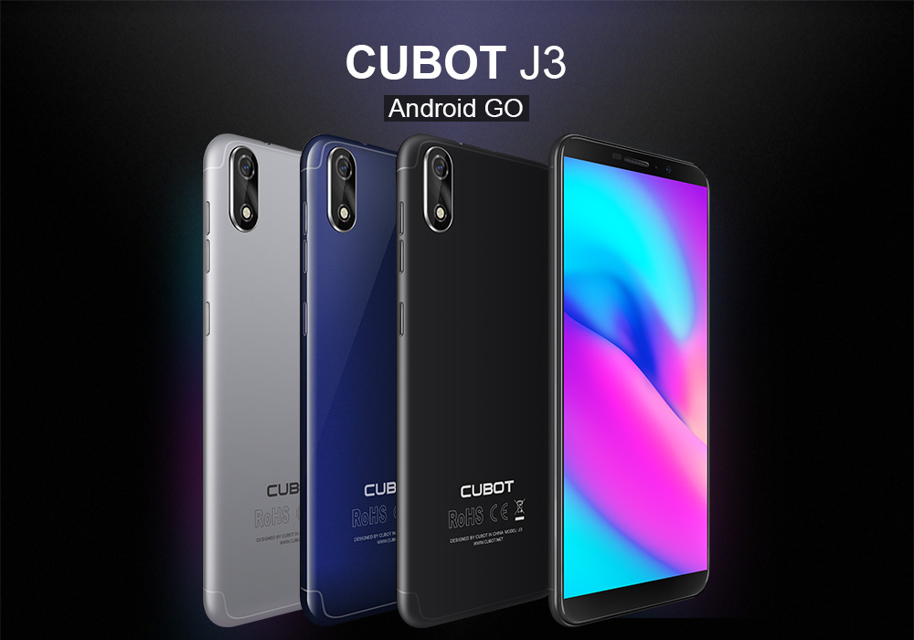 CUBOT J3 is the first 5 0 inch phone with 18:9 Screen and Android Go